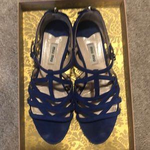 Miu Miu suede sandals